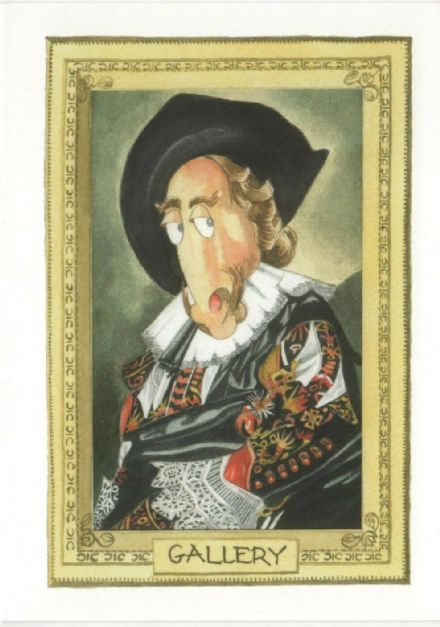 Comedy Equine - Old Schoolmaster Blank Card by Kates Art
